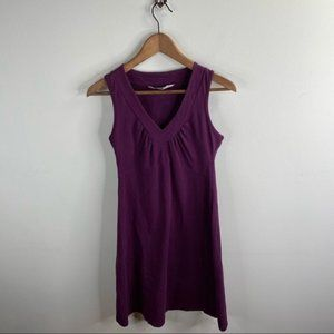 Athleta Purple V-Neck Dress Size S